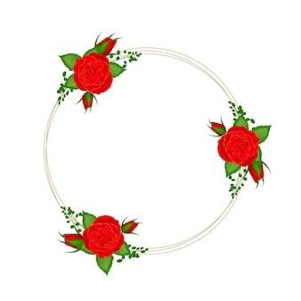 Okrąg kwiatowy rama z rocznika flowerjpg