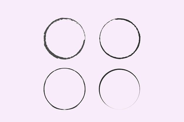 Okrąg narysowany pędzlem ramka wektor doodle do użytku projektowego koła grunge