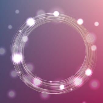 Okrąg ramowy tło z bokeh