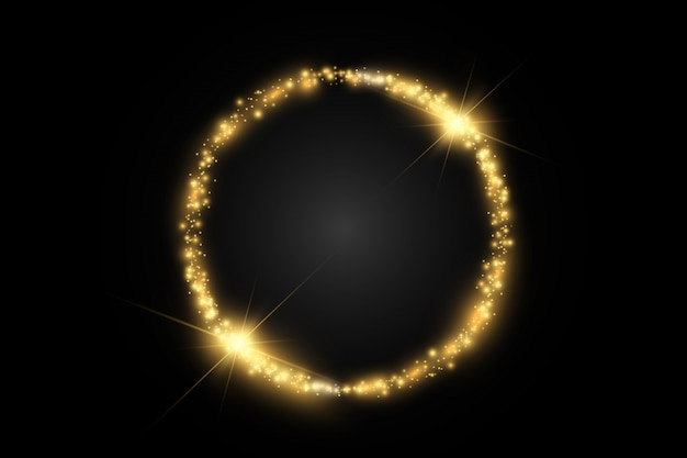 Okrągła błyszcząca rama magicznego koła