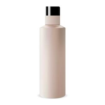 Okrągła butelka szamponu kosmetycznego
