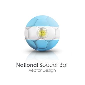 Okrągła ikona grać białą argentyną