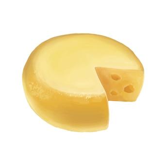 Okrągła ilustracja sera piękna ilustracja