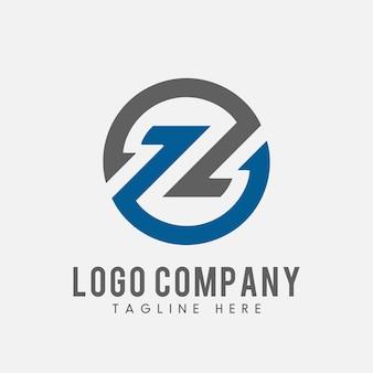 Okrągła litera z logo