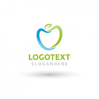Okrągła logo apple