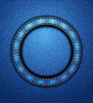 Okrągła naszywka jeansowa