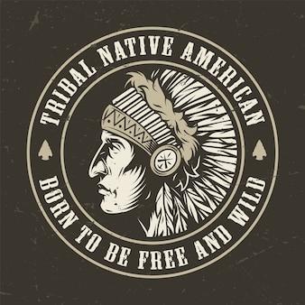Okrągła odznaka vintage dziki zachód