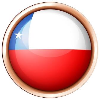 Okrągła odznaka z flagą chile