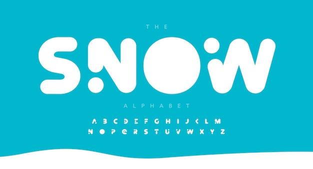 Okrągła pogrubiona czcionka litery alfabetu nowoczesne logo typografia ciężki i gruby wektor typograficzny projekt miękki