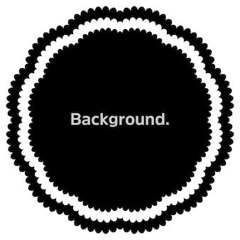 Okrągła rama proste tło szablonu