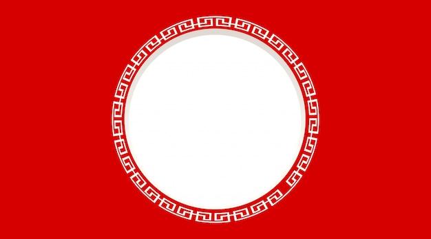 Okrągła rama z czerwonym tłem