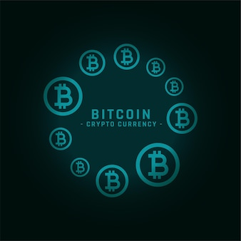Okrągła ramka bitcoins z miejscem na tekst