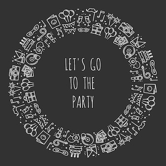 Okrągła ramka na przyjęcie