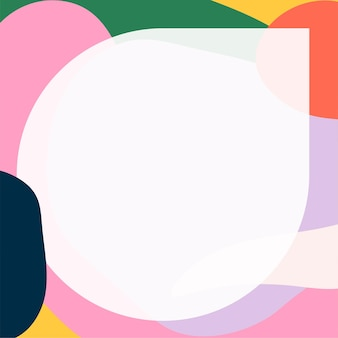 Okrągła ramka w kolorowym neo memphis