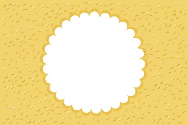Okrągła ramka z żółtym tłem