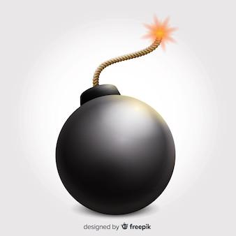 Okrągła realistyczna bomba z bezpiecznikiem