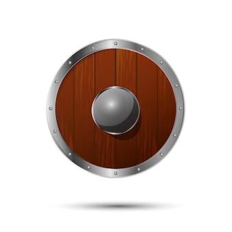 Okrągła średniowieczna tarcza