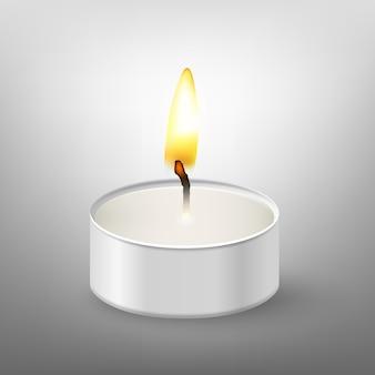 Okrągła świeca.