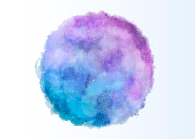 Okrągła tekstura akwarela w kolorze różowym i niebieskim