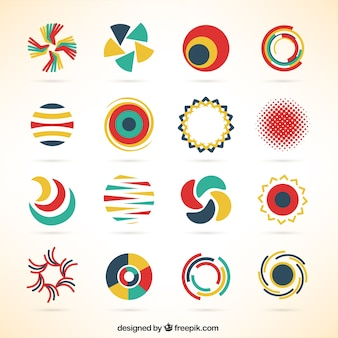 Okrągłe biznesu szablony logo