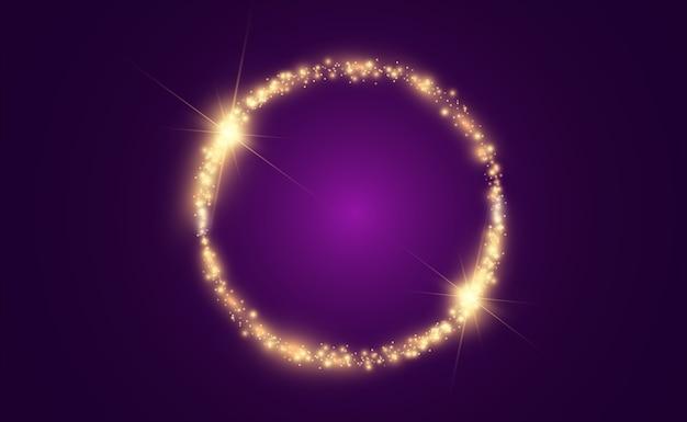 Okrągłe błyszczące idealne tło. piękne światło. magiczny krąg.