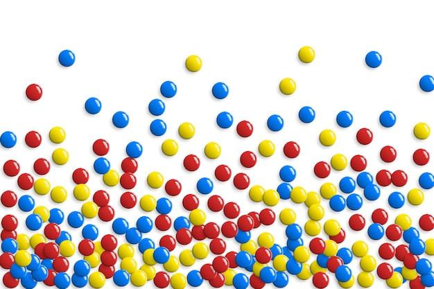 Okrągłe błyszczące przyciski lub wzór pęcherzyków gry