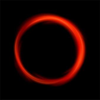 Okrągłe czerwone światło skręcone