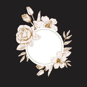 Okrągłe etykiety kwiatowe