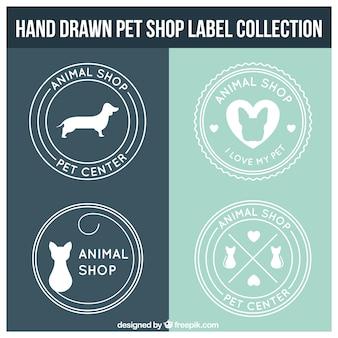 Okrągłe etykiety sklep zoologiczny