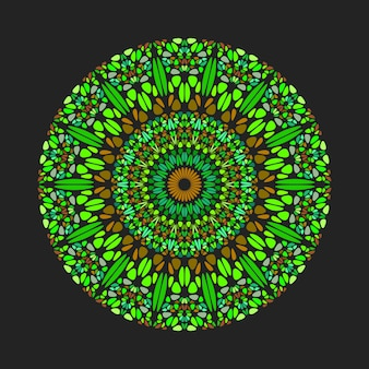 Okrągłe geometryczne okrągłe streszczenie płatek wzór mandali sztuki