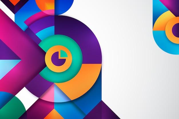 Okrągłe geometryczne tło gradientowe