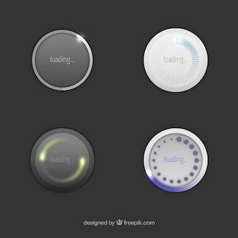 Okrągłe ikony ładowania
