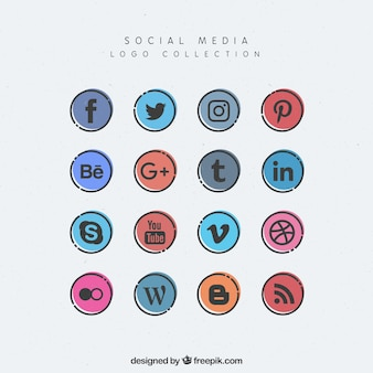 Okrągłe ikony social media