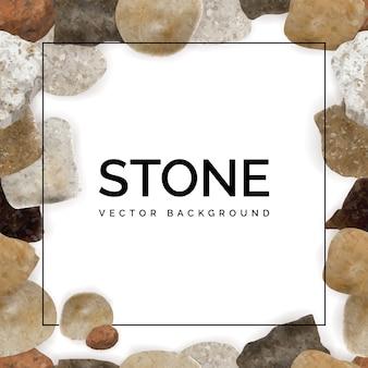 Okrągłe kamienie rzeczne lub kamyki morskie rama tło