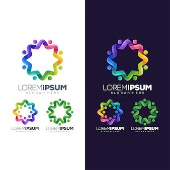 Okrągłe kolorowe logo
