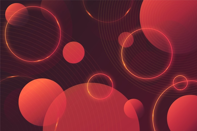 Okrągłe kształty geometryczne na ciemnym tle
