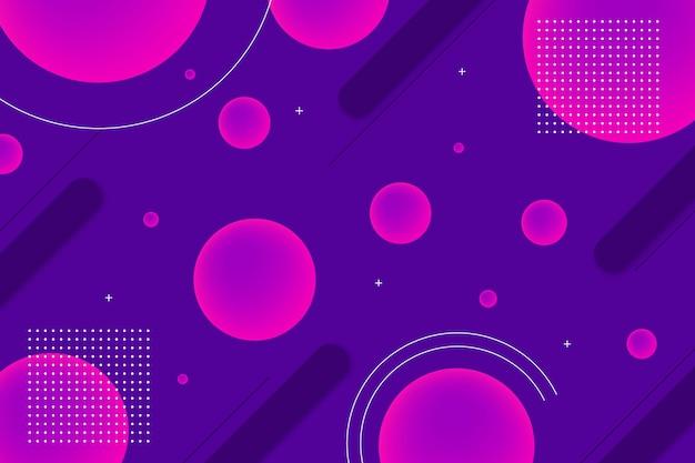 Okrągłe kształty geometryczne tło z elementami memphis