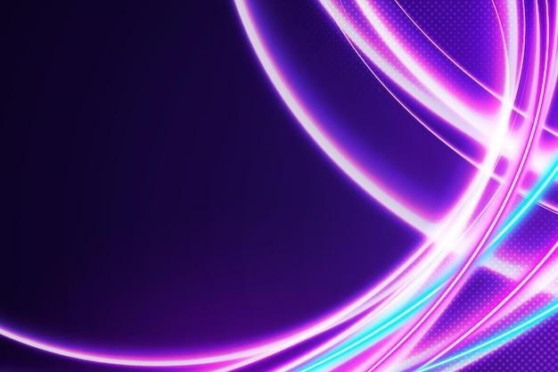 Okrągłe linie streszczenie tło światła neonowe