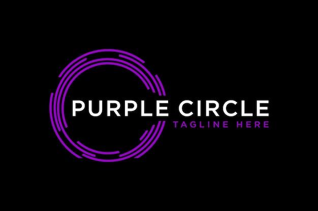 Okrągłe logo technologii. abstrakcyjny kształt geometryczny koło. element projektu. płaska konstrukcja