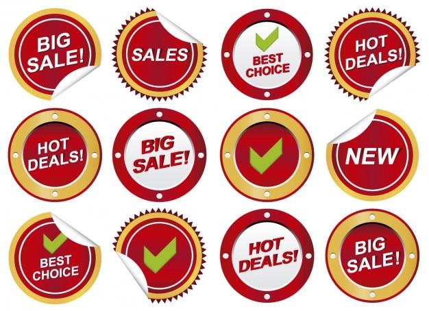 Okrągłe naklejki sprzedaży