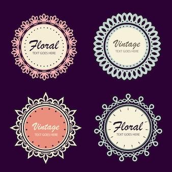 Okrągłe ozdobne banery