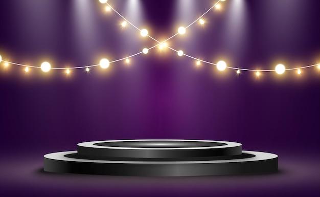 Okrągłe podium, cokół lub platforma.