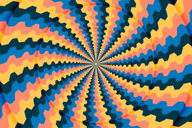 Okrągłe psychodeliczne dynamiczne tło