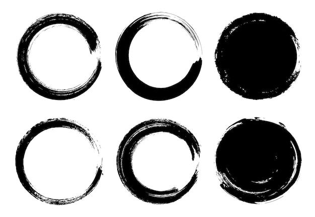 Okrągłe ramki obrysu farby
