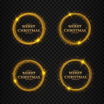 Okrągłe ramki świąteczne z gwiazdami ramki kartka z życzeniami wesołych świąt