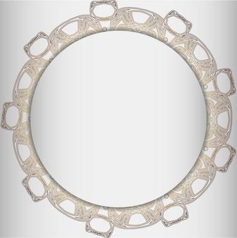 Okrągłe ramki z elementem abstrakcyjnym