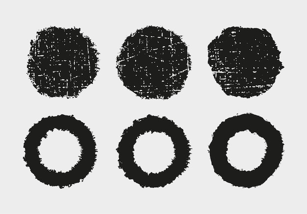 Okrągłe ramki z teksturą grunge