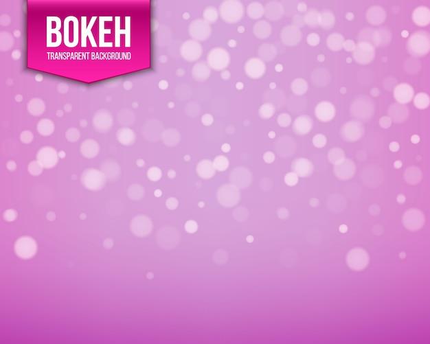 Okrągłe świecące bokeh różowe tło