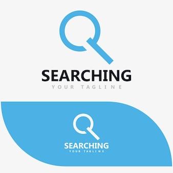 Okrągłe szkło powiększające, wyszukiwanie, powiększanie, znajdowanie szablonu projektu logo