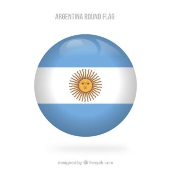 Okrągłe tło flaga argentyny